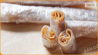 Bản đồ ẩm thực: Một thoáng Vĩnh Long cùng bánh tráng cuốn chuối khô bình dị