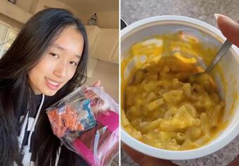 Bữa trưa mang đi học siêu đơn giản của rich kid Jenny Huỳnh