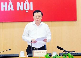 Bí thư Thành ủy Hà Nội Đinh Tiến Dũng là Trưởng Ban Chỉ đạo sửa đổi Luật Thủ đô