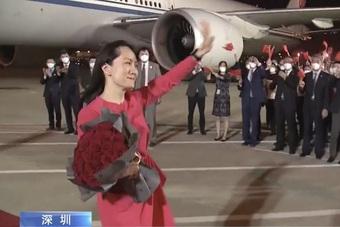 Trung Quốc trải thảm đỏ đón bà Mạnh Vãn Chu hồi hương