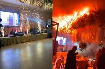 Đám cưới tan hoang sau màn bắn pháo hoa