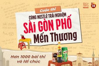 Nestlé Việt Nam tổ chức cuộc thi 'Sài Gòn phố mến thương' cùng hơn 8.000 phần quà gửi tình nguyện viên tuyến đầu chống dịch