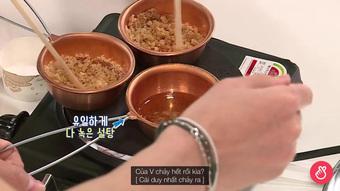 BTS thử sức với Squid Game: Biểu cảm thảng thốt của V khi chơi tách kẹo có thể phát ra âm thanh!
