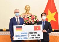 Chính phủ Đức viện trợ Việt Nam 2,6 triệu liều vắc xin