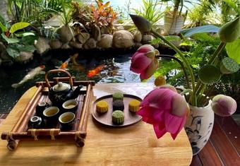 Khu vườn như resort thu nhỏ, gia chủ thưởng trà, ngắm cá bơi ở Đồng Nai
