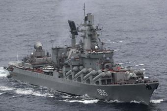 [NÓNG] Tàu chiến Ukraine bị tuần dương hạm mang tên lửa của Nga chặn đầu: Chưa kịp 'nhe nanh' đã vã mồ hôi!