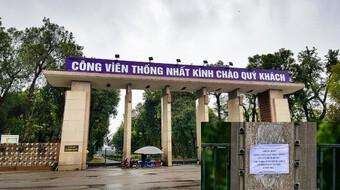 Hà Nội: Công viên lớn trên địa bàn chưa mở cửa từ sáng mai, 28-9