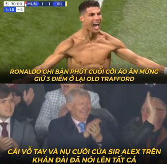 """Ảnh chế: Ronaldo tiếp tục """"giải cứu"""" MU ở phút bù giờ cuối cùng"""