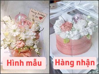 Cô gái nổi cơn vì cái bánh kem Hàn Quốc mua về khác ảnh mẫu