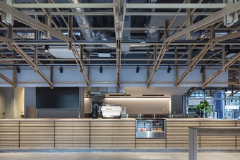 """Quán cà phê """"lắp ghép"""" từ gỗ, thiết kế không gian thân thiện với môi trường"""