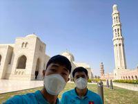 Xuân Trường, Đức Chinh khoe làn da 'bắt nắng' tại Muscat