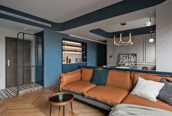 Căn hộ màu xanh xám với cách thiết kế khu vực lưu trữ độc đáo dành cho vợ chồng trẻ