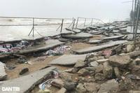 Dự án kè biển hơn 40 tỷ đồng bị sóng đánh hư hỏng