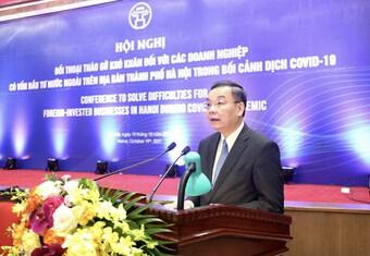 Hà Nội: Tạo mọi điều kiện giúp doanh nghiệp vượt khó do COVID-19