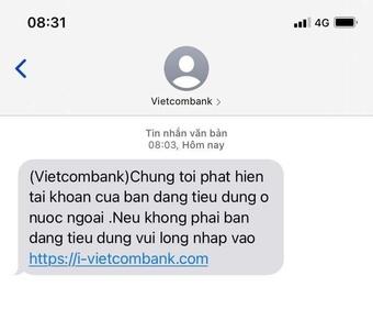 Xuất hiện tin nhắn lừa đảo, giả mạo ngân hàng Sacombank