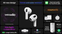 AirPods 3 ra mắt: Thiết kế giống AirPods Pro, kháng nước, pin cải thiện, giá 4.1 triệu đồng