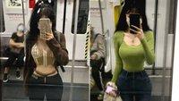 Chỉ chụp lại ảnh trên tàu điện ngầm, cô gái khiến mạng xã hội râm ran