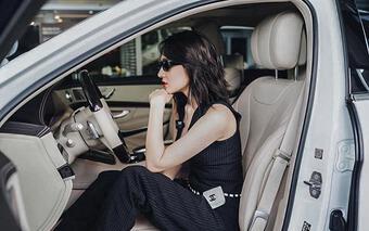 Ca sĩ Bảo Anh sắm xế sang Mercedes-Benz S460 trắng tinh