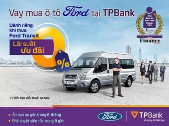 Lãi suất 0%, dễ dàng sở hữu xe Ford cùng TPBank