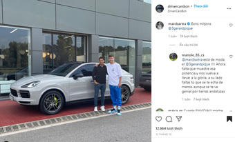 Sao Barcelona khoe Porsche Cayenne bạc tỷ mới sắm nhưng dân tình chỉ chú ý đến một thứ khác