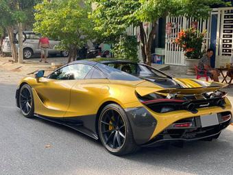 Đại gia Đà Nẵng chi thêm 170 triệu đồng thay mâm siêu xe McLaren 720S Spider độ Novitec