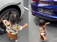 Ái nữ nhà Cường Đôla đi thị phạm xe tại showroom Porsche, gợi ý ba mua chiếc khá đặc biệt