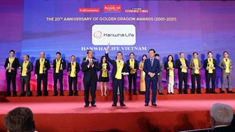 Hanwha Life Việt Nam vinh dự nhận giải thưởng Rồng Vàng 2021