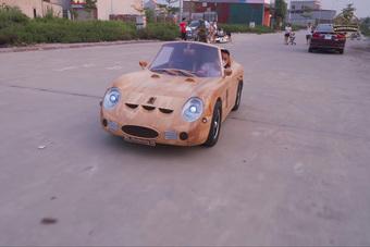 Chán làm siêu xe, thợ mộc Việt chuyển qua làm xe tăng bằng gỗ từ Mitsubishi 'đời tống'