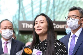 ''Công chúa'' Huawei được chào đón như ngôi sao điện ảnh ngày đầu tiên trở lại trụ sở