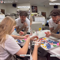 """Ngoại hình phổng phao của """"công chúa"""" Harper nhà Victoria Beckham gây chú ý khi hai mẹ con chụp hình cùng nhau"""