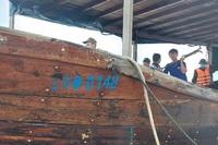 Tàu không người lái nghi từ Trung Quốc dạt vào bờ biển Quảng Trị
