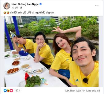 Lan Ngọc đăng ảnh Running Man thế nào mà netizen chỉ chú ý đến vị trí ngồi thân mật của Karik?