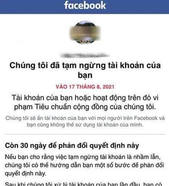 Để tài khoản Facebook không bị xóa